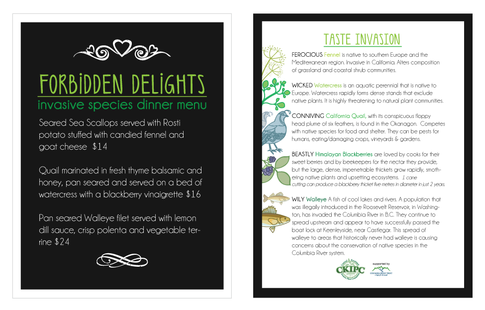 Invasive Species menu Design