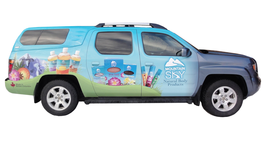 Mountain Sky Soap ~ Vehicle Wrap