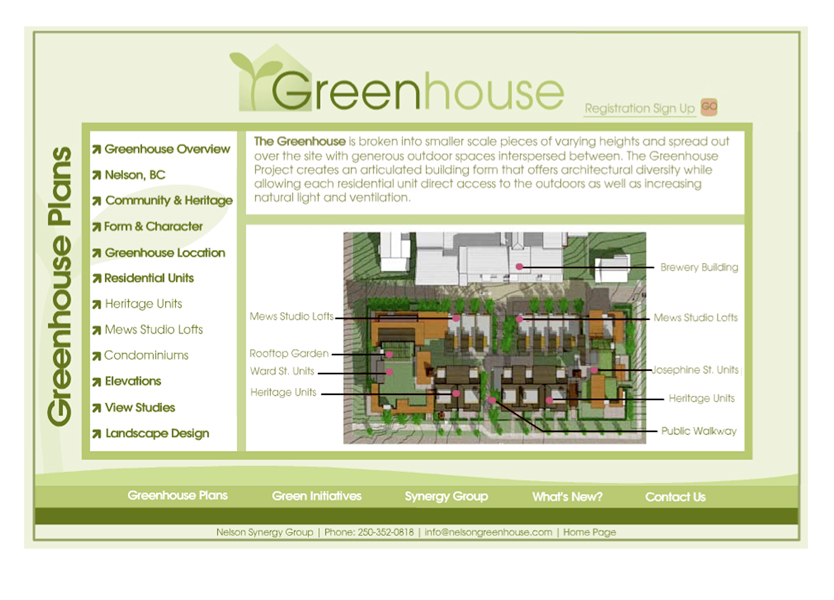 Greenhouse Project ~ Online Brochure